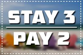 Stay for 3 pay for 2 accommodation special